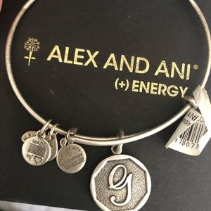 Alex and Ani G initial Bracelet